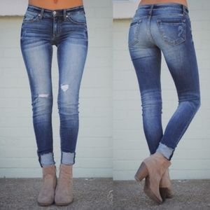 Denim - ALUNA Cuff Skinny Jeans